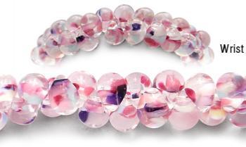 Designer Medical Bracelets Pink Peppermint 2047