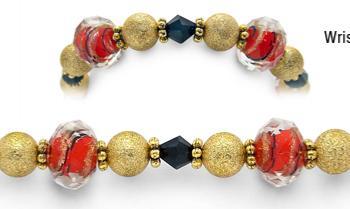 Designer Bead Medical Bracelets Monte Carlo Magic 2074