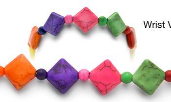 Designer Bead Medical Bracelets Rainbow Road 2075