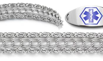Designer Stainless Medical ID Bracelet Set Impressionato 21895
