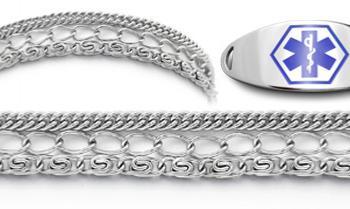Designer Stainless Medical ID Bracelet Set Importanza 21897