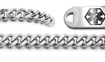 Designer Stainless Medical Bracelet Set Un Prezzo Sicilia 22003