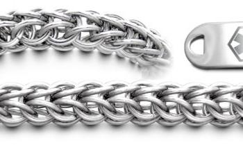 Designer Stainless Medical Bracelet Set Anelli di Acciaio 22004
