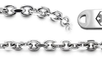 Designer Stainless Medical Bracelet Set Gusto di Napoli 22005