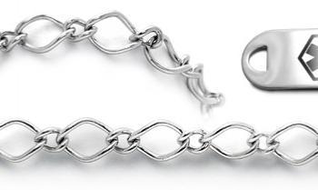 Designer Stainless Medical Bracelet Set Museo del Merletto 22006
