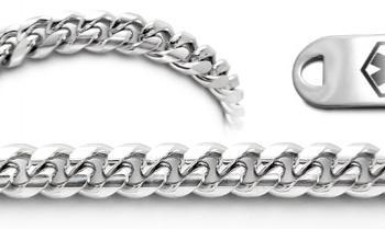 Designer Stainless Medical Bracelet Set Classica Italiana 22011