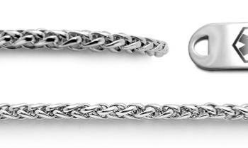 Designer Stainless Medical Bracelet Set Coda di Cavallino 22012
