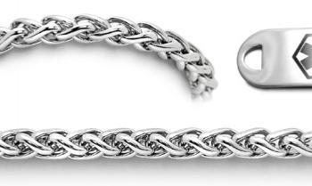 Designer Stainless Medical Bracelet Set Amore Eterno 22014