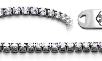 Designer Stainless & Diamond Medical Bracelets Set Diamanti di Sophia 22015