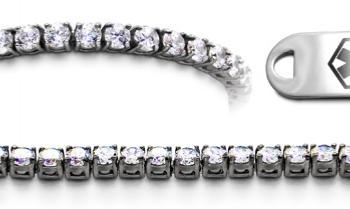 Designer Stainless & Diamond Medical Bracelets Set Diamanti di Sophia 22015