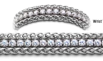 Designer Stainless Medical Tennis Bracelet Pizzo d'Andolla 2259