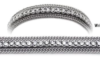 Designer Diamond Medical Tennis Bracelets Cima de Piazzi 2263