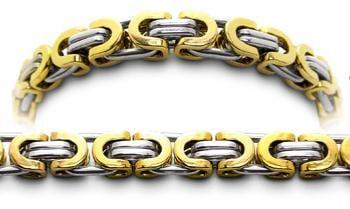 Designer Gold & Stainless Medical Bracelets Monte Rosa 2293