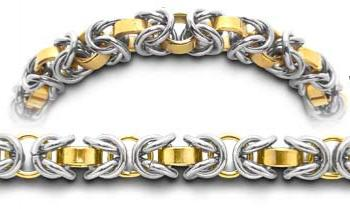 Designer Gold-Stainless Medical ID Bracelet Intrecciato Roma 2347