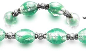 Designer Bead Medical Bracelets Green Ice 2349
