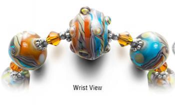 Designer Bead Medical Bracelets Domes of Galactic Ribbon 2353