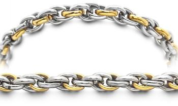 Designer Gold-Stainless Medical Bracelet Piccolo Corteccia 2371