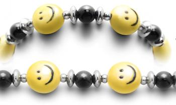 Designer Bead Medical Bracelets Smiley Face 2374