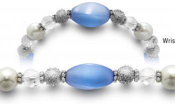 Designer Bead Medical ID Bracelets Blue Breeze 3776