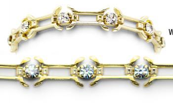 Designer Gold-Diamond Medical Bracelets Napoli Oro 9004