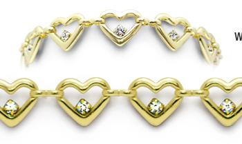 Designer Gold-Diamond Medical Bracelets Amoré Oro 9005