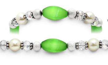 Designer Bead Medical Bracelets Green Breeze 9615