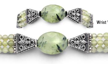 Designer Bead Medical Bracelets Prehnite 9672