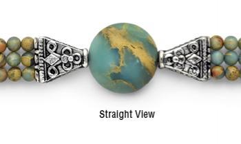 Designer Bead Medical Bracelets African Opal 9707