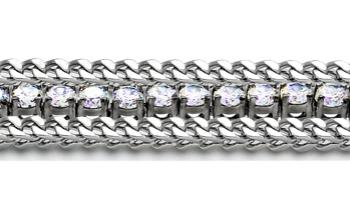 Designer Diamond Medical Tennis Bracelet Tre Catene 1991