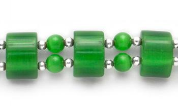 Designer Bead Medical Bracelets Green Domes of Delight 0185