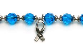 Designer Bead Medical Bracelets Hope in Blue 0308