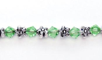 Designer Medical ID Bracelets Flowers On Green 0369