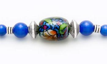 Designer Bead Medical Bracelets Blue Blood 0706