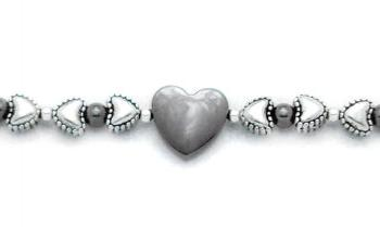Designer Medical Bracelets Heart with a Silver Lining 0774