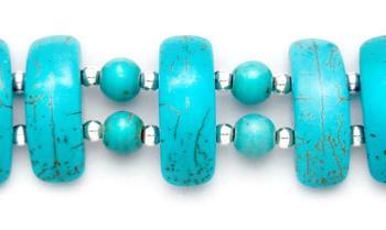 Designer Bead Medical Bracelet Turquoise Party 0779