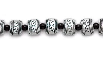Designer Bead Medical Bracelets Silver Metalica 0800