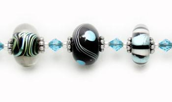 Designer Bead Medical Bracelets Funky Blues 0850