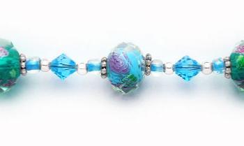 Designer Bead Medical Bracelets Fiore Delicato 0867