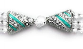 Designer Bead Medical Bracelets Study in Crystal Clear 0921