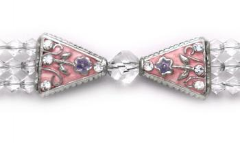 Designer Bead Medical Bracelets Study in Salmon 0923