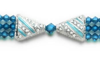 Designer Bead Medical Bracelets Deep Aqua 0928