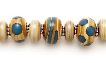Designer Bead Medical Bracelets Carmel Harvest 1095