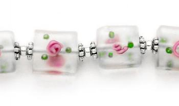 Designer Bead Medical Bracelets Lalique en Rose 1123