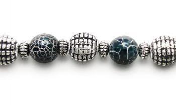 Designer Bead Medical Bracelets Spider Web 1196