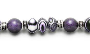 Designer Bead Medical Bracelets Purple Dragon III 1199