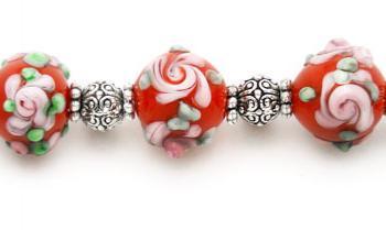 Designer Bead Medical Bracelets Sunset Rose 1201