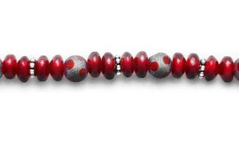 Designer Bead Medical Bracelets Ruby-Duby 1280