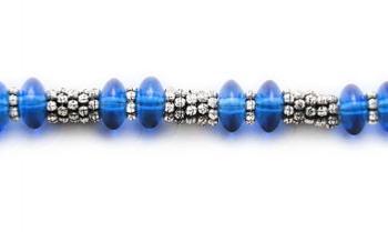 Designer Bead Medical Bracelets Blue Blast 1294
