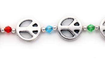 Designer Bead Medical Bracelets Peace-Love-Style 1449