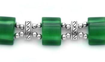 Designer Bead Medical Bracelets Emerald Mystique 1542